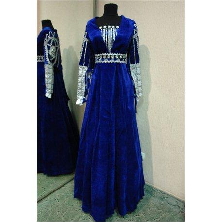 Взрослый карнавальный костюм Джульетта, Дама синее р.48-54 4126