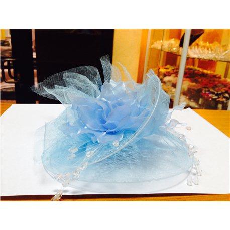 Детская карнавальная шляпка с заколкой голубая 4635