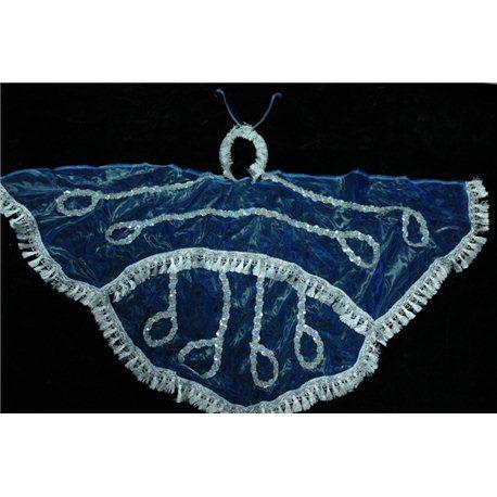 Карнавальный набор крылья бабочки синие (крылья, рожки) 1067