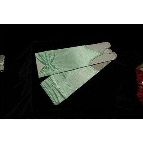 Перчатки для девочек до локтя салатовые 3027