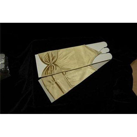 Перчатки для девочек до локтя золотистые 3030