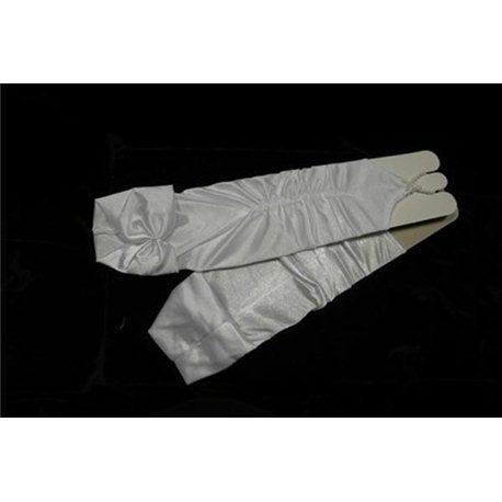 Mănuși pentru fetițe culoarea alba 3003