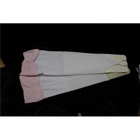 Перчатки для девочек выше локтя белые 3035