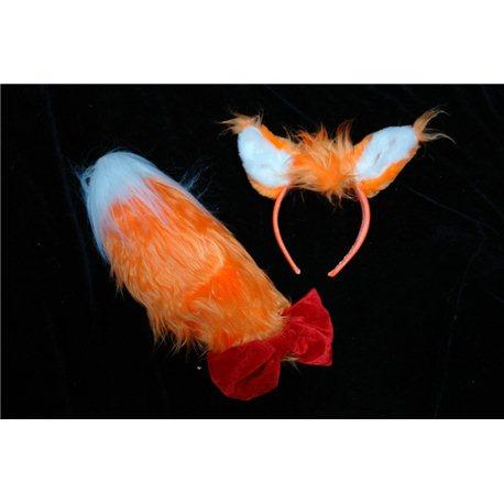 Карнавальные принадлежности хвост и ушки Лисички 0822