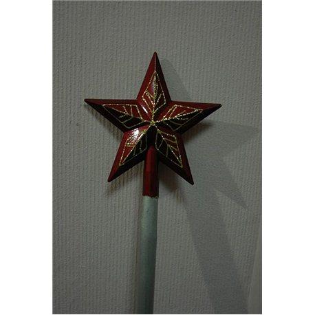 Карнавальные принадлежности Посох Деда Мороза с красной звездой 2705