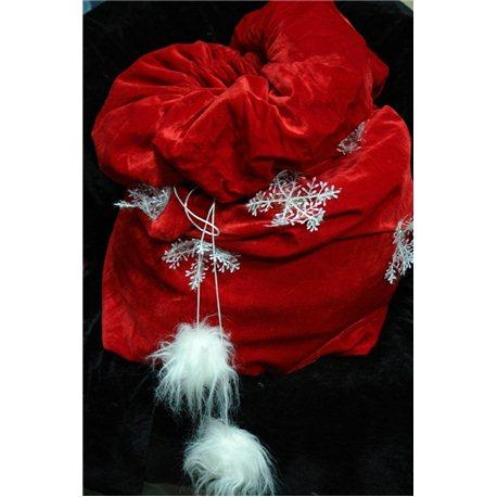 Карнавальные принадлежности мешок Деда Мороза из бархата 3570, 4646