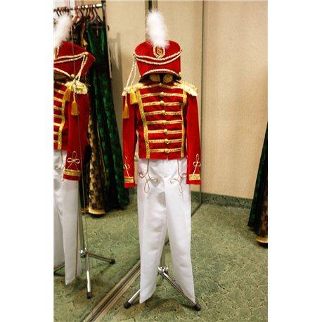 Детский карнавальный костюм Гусар красного цвета 6219, 6218, 6220, 6217