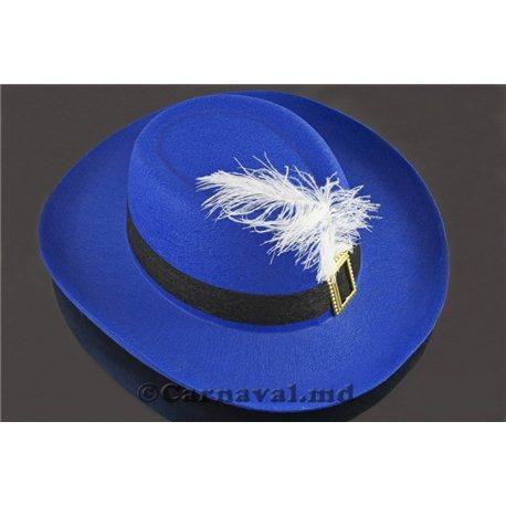 Шляпа Мушкетера детская синяя 1076