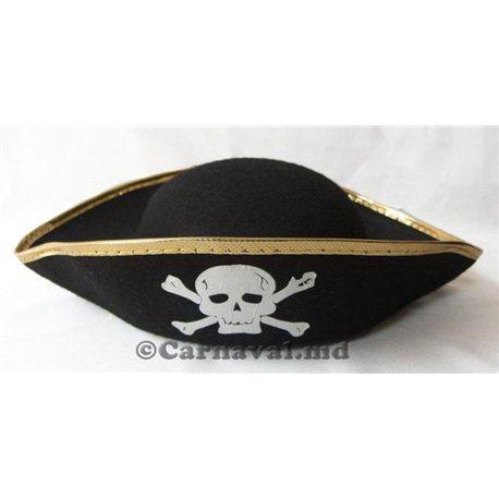 Карнавальная шляпа Пират с черепом 1078, 4065