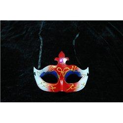 Карнавальные маски с лилией серебряно-красные 0982
