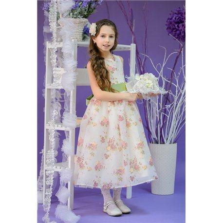 Детские нарядные платье Весна айвори на 3-6 лет 3023, 3022