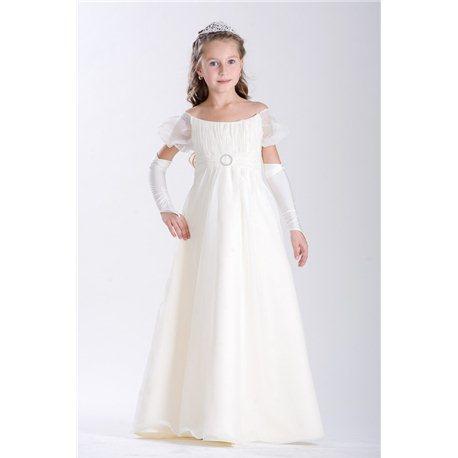 Детское нарядное платье бежевое на 7-8 лет 3021