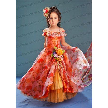 Нарядное платье для девочки, Осень , Весна 4432