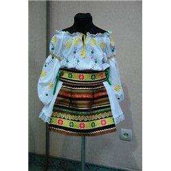 Costum national moldovenesc pentru fetite 5-6 ani 4822