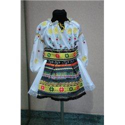 Costum national moldovenesc pentru fetite 5-6 ani 4824