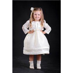 Rochiţă albă pentru fetiţe + bolero 3051