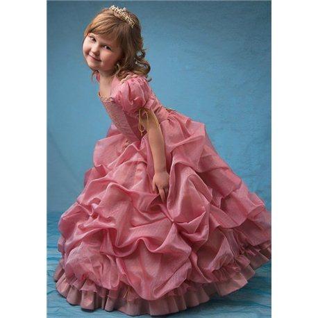 Детское платье сложно-розового цвета 0577