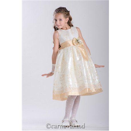 Детское платье Жаклин бежевое 2441