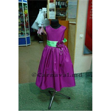 Малиновое платье для девочки 2408