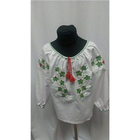 Национальная блузка девочка (виноград) 8844 7-8 лет