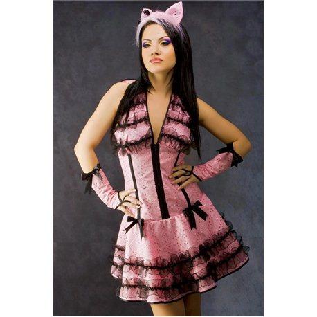 Costum de Carnaval pentru Adulti Pantera Roz 3572