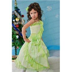Детское нежно-зеленое платье 3808