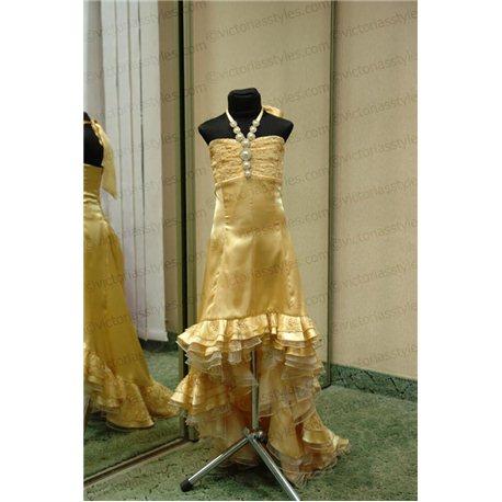 Нарядное золотое платье для девочки 1060