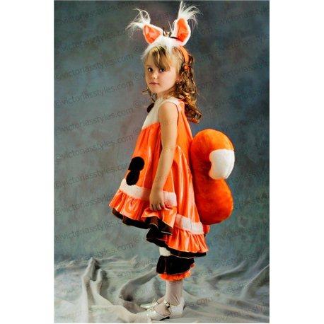 Costum de Carnaval pentru copii Veveriță 3138, 3159