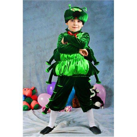 Детский карнавальный костюм Гусеница 3338