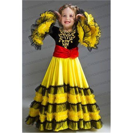 Детский карнавальный костюм Испанка, Цыганка 2180