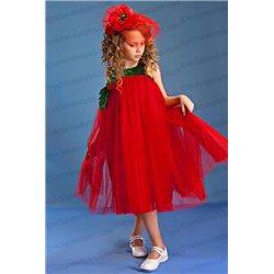 Costum de Carnaval pentru copii Floare de mac, Lalea, Roșie 4243