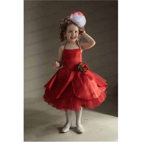 Costum de Carnaval pentru copii Floare de mac, Mărțișor 2768, 2748