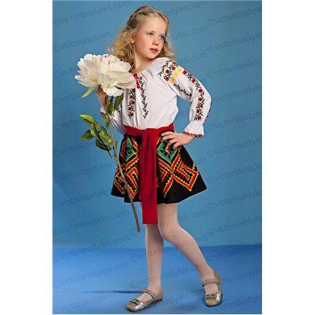Молдавский национальный костюм на девочку 5-7 лет 4165
