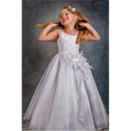 Белое бальное платье 3385