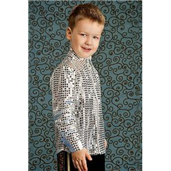 """Серебрянная рубашка в стиле """"Диско"""" 4157"""