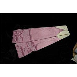 Перчатки детские, без пальцев, выше локтя, блестящие, с бантом, розового цвета 621, 990, 991