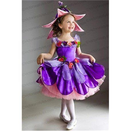 Costum de Carnaval pentru copii Liliac, Viorea 2753