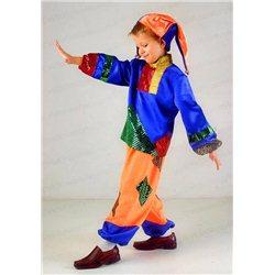 Детский карнавальный и маскарадный костюм Скоморох, Шут 0682, 1063, 1062