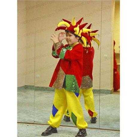 Детский карнавальный и маскарадный  костюм Скоморох, Шут 0030, 2109, 2108