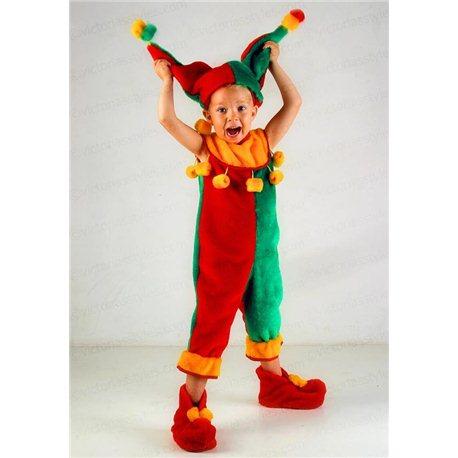 Детский карнавальный костюм Скоморох, Шут 0552