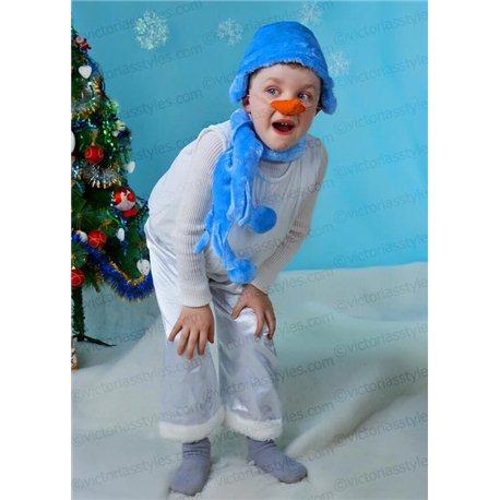 Costum de Carnaval pentru copii Omuleț de zăpadă 2543 , 3187 , 4191, 1943, 2544 , 4189 , 3186 , 4190
