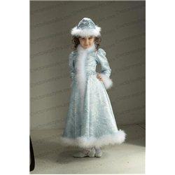 Детский карнавальный и маскарадный костюм Снегурочка из парчи на 5-6 лет 2598