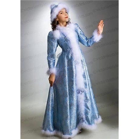 Детский карнавальный и маскарадный костюм Снегурочка на 10 лет 0180