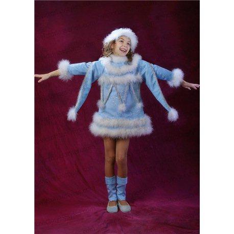 Детский карнавальный и маскарадный костюм Снегурочка, Снежинка 1732