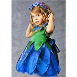 Детский карнавальный костюм Фиалка, Гиацинт, подснежник (топораш) 3314