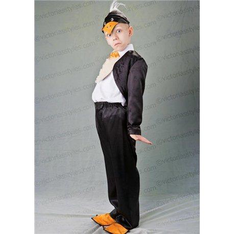 Детский карнавальный и маскарадный костюм Пингвин, фрак черный 2938