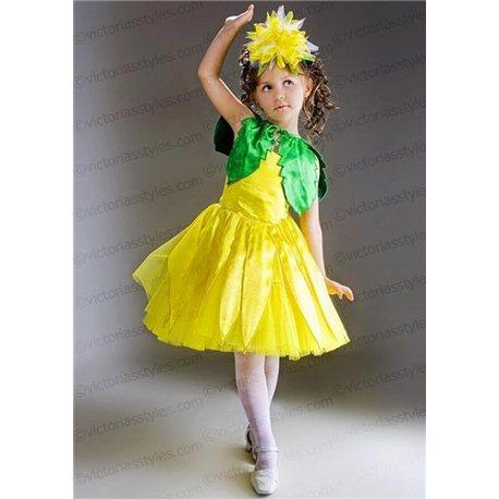 Costum de carnaval pentru copii Crizantemă, Păpădie 2749