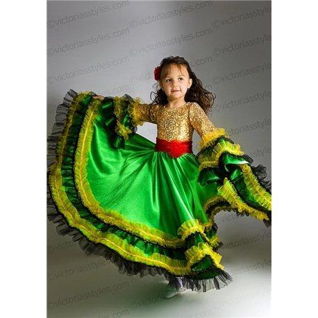 Детский карнавальный и маскарадный костюм Цыганка 2178