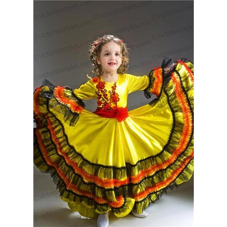 Детский карнавальный и маскарадный костюм Цыганка 2177