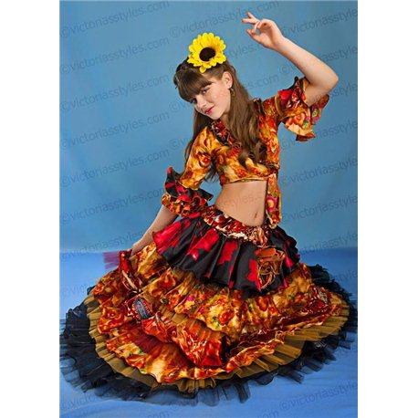 Детский карнавальный и маскарадный костюм Цыганка 3873